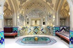 Sultan Amir Ahmad Bathhouse in Kashan, Iran stock fotografie