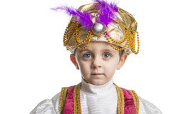 Sultan child on white royalty free stock photography