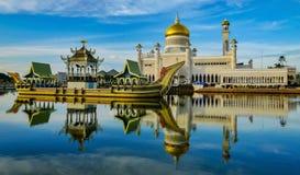 sultan för ali moskéomar saifuddin royaltyfri fotografi