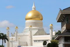 sultan för ali moskéomar saifuddin Royaltyfri Bild