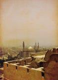 Sultan Hassan mosque in Cairo,Egypt. Sultan Hassan mosque in Cairo - Egypt , grunge effect Stock Photos