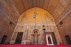 Sultan Hassan Mosque - gammal Kairo arkivfoto