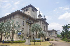 Sultan Ibrahim Building at Bukit Timbalan. The Sultan Ibrahim Building is the state secretariat's office in Johor Bahru in Malaysia. The building's architecture royalty free stock image