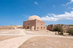 Sultan Ibrahim mosque Inside the Fortezza of Rethymno. Crete, Greece. Royalty Free Stock Image