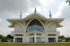 Sultan Ismail Airport Mosque - Senai Airport. JOHOR, MALAYSIA - FEBRUARY, 2014: Masjid Sultan Ismail Airport is built close to Senai Airport, Kulai, Johor royalty free stock photo
