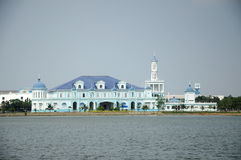 Sultan Ismail Mosque in Muar, Johor, Malaysia. JOHOR, MALAYSIA – JANUARY, 2014: Sultan Ismail Mosque also known as Muar 2nd Jamek Mosque located at stock photo