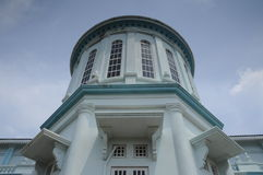 Sultan Ismail Mosque in Muar. JOHOR, MALAYSIA – JANUARY, 2014: Sultan Ismail Mosque also known as Muar 2nd Jamek Mosque is next to Tanjung Agas, Muar royalty free stock photos