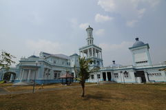 Sultan Ismail Mosque in Muar. JOHOR, MALAYSIA – JANUARY, 2014: Sultan Ismail Mosque also known as Muar 2nd Jamek Mosque is next to Tanjung Agas, Muar royalty free stock image