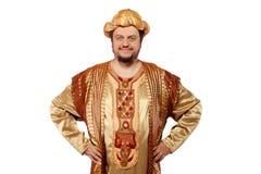 Sultan, Karnevalskostüm stockbild