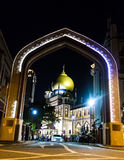 Sultan masque singapore. In arab street Royalty Free Stock Image