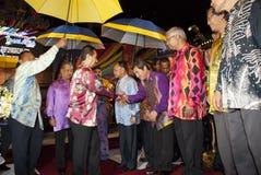Sultan Mizan Zainal Abidin. KUALA LUMPUR, MALAYSIA-MAY 21: Yang di-Pertuan Agong, Sultan Mizan Zainal Abidin, King of Malaysia during the celebration of Color of Stock Images