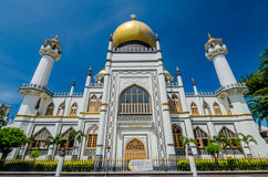 Sultan Mosque Royaltyfria Bilder