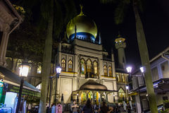 Sultan Mosque. In Arab street Singapore Stock Photos