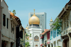 Sultan Mosque centre of islamic culture and traditions in Singap Royalty Free Stock Images