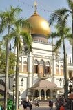 The beautiful Sultan Mosque in Singapore. Sultan Mosque is located at Muscat Street and North Bridge Road within the Kampong Glam district of Rochor Planning Stock Photography