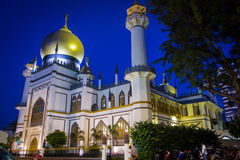 Sultan Mosque. Is located at Muscat Street and North Bridge Road within the Kampong Glam district of Rochor Planning Area in Singapore. The mosque is considered Royalty Free Stock Images