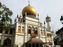 Sultan Mosque (Masjid sultan) Singapore Arkivfoton