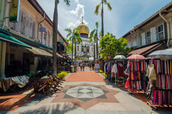 The Sultan Mosque. Rochor, Singapore- June 17, 2017: The Sultan Mosque which located at Muscat Street is considered one of the most important mosques in Royalty Free Stock Photo