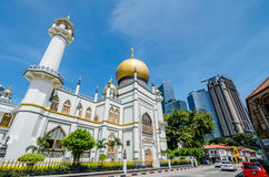 The Sultan Mosque. Rochor, Singapore- June 17, 2017: The Sultan Mosque which located at Muscat Street is considered one of the most important mosques in Royalty Free Stock Image