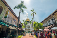 The Sultan Mosque. Rochor, Singapore- June 17, 2017: The Sultan Mosque which located at Muscat Street is considered one of the most important mosques in Stock Photography