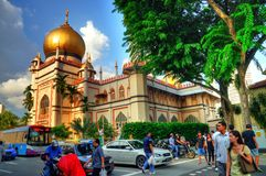 Sultan Mosque, Singapore. A photo of the Sultan Mosque taken during the festive month of Ramadan Stock Image