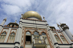Sultan Mosque, Singapore. Named in honour of the Sultan of Singapore. One of Singapore's most famous religious buildings Stock Photos