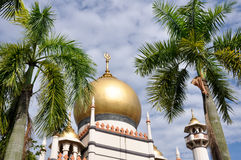 Sultan mosque in Singapore. Dome of Sultan mosque in Singapore royalty free stock photography