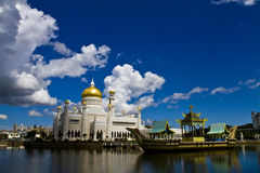 Sultan Omar Ali Mosque, Brunei Stock Image