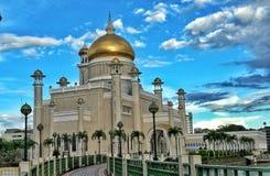 Sultan Omar Ali Saifuddien Mosque Stock Afbeelding