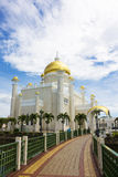 Sultan Omar Ali Saifuddien Mosque, Brunei Stock Photos