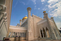 Sultan Omar Ali Saifuddin Mosque. Brunei's most famous tourist attraction Royalty Free Stock Photos