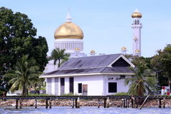 Sultan Omar Ali Saifuddin Mosque Royalty Free Stock Photography