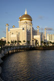 Sultan omar ali saifuddin mosque, Brunei. Sultan Omar Ali Saifuddin mosque in Bandar Seri Begawan, Brunei, in late afternoon Stock Images
