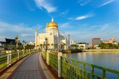 Sultan Omar Ali Saifuddin mosque Stock Photography