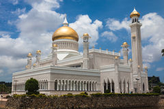 Sultan Omar Ali Saifuddin Mosque in Brunei Royalty-vrije Stock Afbeeldingen
