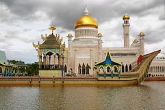 Sultan Omar Ali Saifuddin Mosque in Brunei Stock Photography