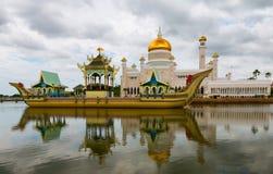 Sultan Omar Ali Saifuddin Mosque in Brunei Stock Images
