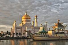 Sultan Omar Ali Saifuddin Mosque, Brunei Darussalam Fotografie Stock Libere da Diritti