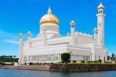 Sultan Omar Ali Saifuddin Mosque i Brunei Darussalam Fotografering för Bildbyråer