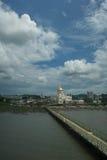 Sultan Omar Ali Saifuddin Mosque stock image