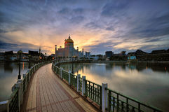 Sultan Omar Ali Saifuddin Mosque Stock Photography