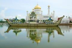 Sultan Omar Ali Saifudding Mosque stock foto