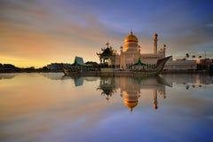 Sultan Omar Ali Saifudding Mosque royalty-vrije stock afbeeldingen