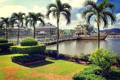 Sultan Omar Ali Saifudding Mosque, Bandar Seri Begawan, Brun photo stock