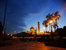 Sultan Omar Ali Saifudding Mosque, Bandar Seri Begawan, Brunei photos libres de droits