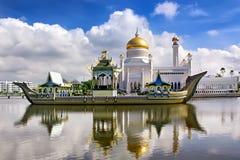 Sultan Omar Ali Saifudding Mosque, Bandar Seri Begawan, Brunei, photo libre de droits