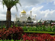 Sultan Omar Ali Saifudding Mosque, Bandar Seri Begawan, Brunei Darussalam fotografia de stock royalty free