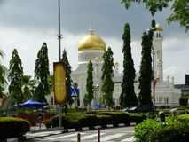 Sultan Omar Ali Saifudding Mosque, Bandar Seri Begawan, Brunei Darussalam foto de stock royalty free