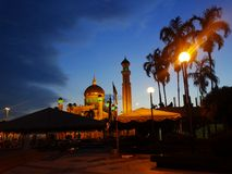 Sultan Omar Ali Saifudding Mosque, Bandar Seri Begawan, Brunei Darussalam Imagens de Stock