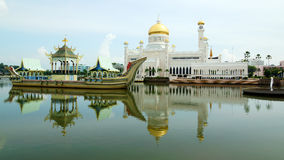 Sultan Omar Ali Saifudding Mosque Royalty Free Stock Photography